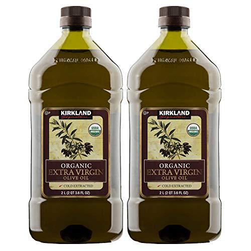 Kirkland Signature Organic Extra Virgin Olive Oil, 2 L (PACK OF 2)
