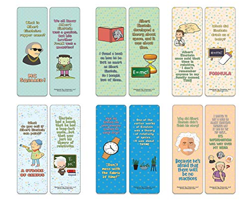 Creanoso Funny Albert Einstein Jokes (12-Pack) - Stocking Stuffers Premium Quality Gift Ideas for Children, Teens, & Adults - Corporate Giveaways & Party Favors