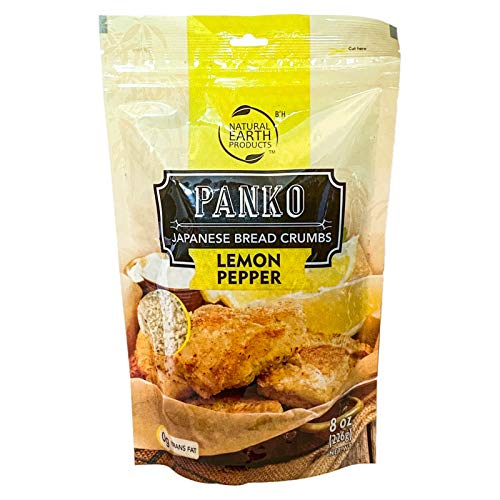 Lemon Pepper Panko - Japanese Bread Crumbs - Kosher - 8 ounces (Single)