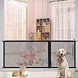 調整可能ペットフェンス 犬 猫用ペットフェンス ベビーゲート多用途 屋内安全ゲート 安全保護 犬 猫 柵 な3サイズ180cm/ 110cm/ 70cmポータブルフォールディングメッ