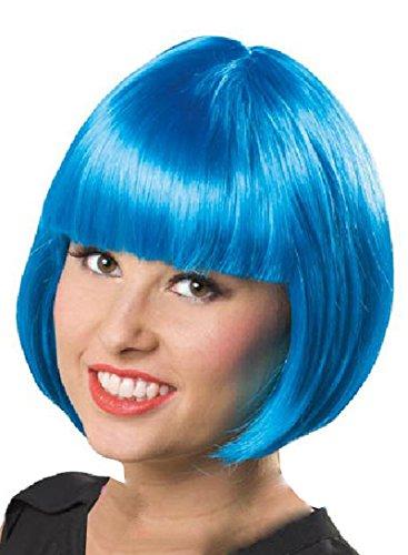 Folat 26697 Perruque Bob Taille unique Bleu