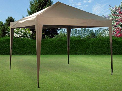 Small-Preis Faltpavillon Pavillon Ruckzuck 3 x 3 m Taupe Deluxe