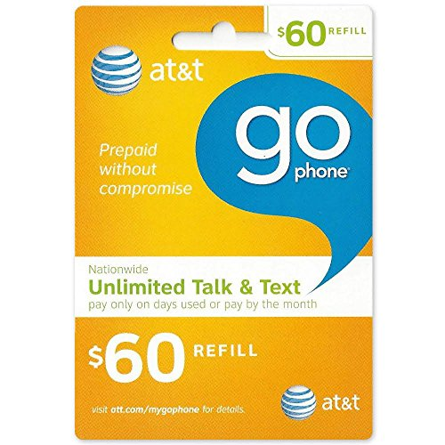 $60 AT&T Go Phone Refill Card - Shipped by Amazon