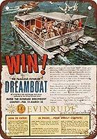 家の装飾1959 Evinrude船外モーターコンテスト-ノベルティ笑いおかしいオフィスホームショップ金属サイン警告安全標識ホームハウスコーヒービールドリンクバーの装飾