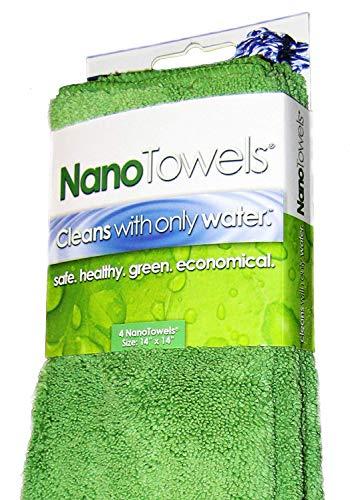 Life Miracle Amazing Tissu écologique Qui nettoie pratiquement n'importe Quelle Surface avec Seulement de l'eau, Plus Besoin de Serviettes en Papier 14 x 14 cm Vert