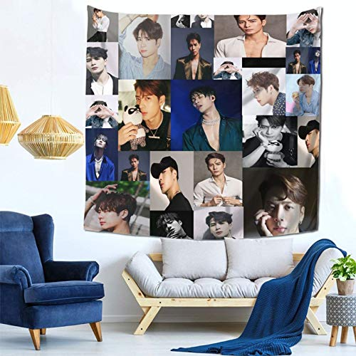 Graslio Jackson Wang Tapestry Web Celebrity Decoration Web Celebrity Layout Room Background Cloth Bed Head Hanging Cloth Bedroom Wall Cloth Tapestry 59x59Inch