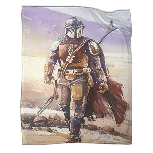 All Season Warm Lightweight Thermal Soft Blankets for Bed SofaStar Wars The Mandalorian Season 2 Frontal View Light Plush Bed Blanket60x80inch(150x200cm)