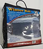 Weatherguard Extra Large Shade Cloth with Grommets (57in. H x 24ft. L), Fits 5ft. X 10ft. Or 8ft. X 6.5ft. Outdoor Cages and Pens