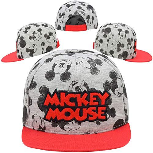 SRV Hub – Kinder Jungen Baseballkappe, Sommerhut für 3+ Jahre Gr. Small, Mickey Mouse (bestickt)