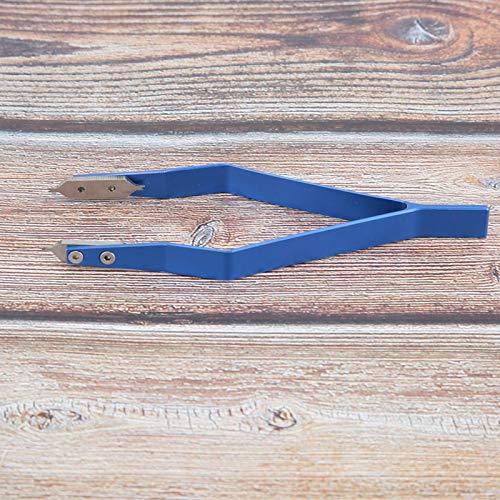 DAUERHAFT Pinzas en Forma de V removedor de Bandas de Reloj Azul, para relojeros y Trabajadores de reparación de Relojes, para reparación de Relojes y extracción de Bandas de Relojes