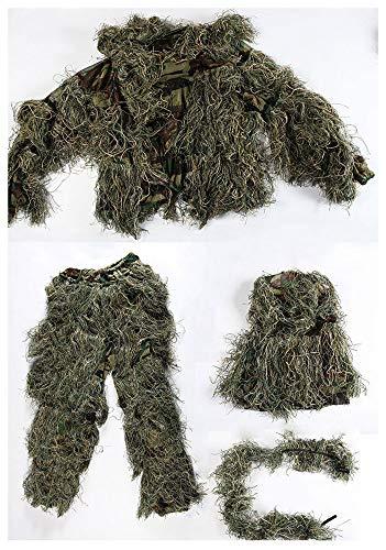ZHhome Tarnanzug Tarnung Anzug, Verschlüsselung Verstärkung, für Camo Armee Militär Jagd Schießen Airsoft Wildlife Fotografie, Dschungel Farbe