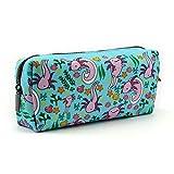 LParkin Axolotl Canvas Pencil Case Pen Bag Pouch Stationary Case Makeup Cosmetic Bag Gadget Bag Gift Kawaii Pencil Box