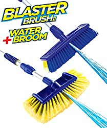 CLEAN & RINSE IN ONE GO: The blaster brush head with scratch free bristles cleans away the most stubborn stains from windows, caravan wheels, or the boat deck. High-pressure washer sprayer blasts away sticky grime. All-in-one jet spray brush replaces...