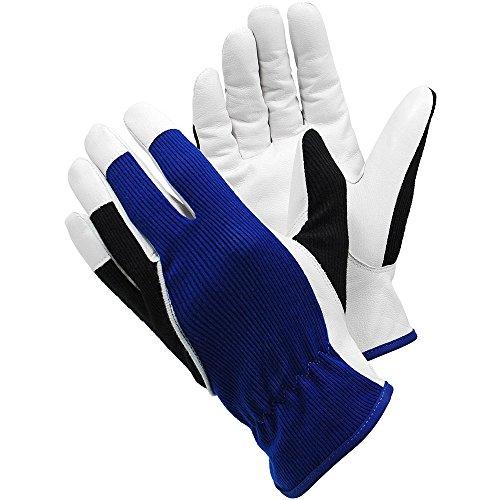 Ejendals Lederhandschuh Tegera 12, Größe 10, 1 Stück, blau/weiß/schwarz, 12-10