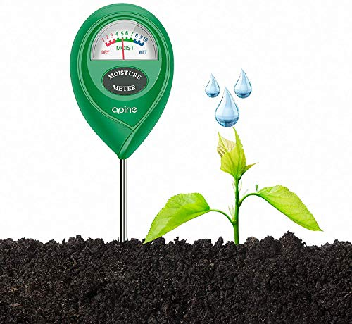 apine Soil Moisture Meter,Moisture Meter for Plants,Water Meter for Indoor and Outdoor Plants,Soil Moisture Sensor for Garden, Farm, Lawn,No Battery Needed