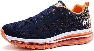 Zapatillas de Deporte con Cojines de Aire Calzado de Running Net para Estudiante Volar Zapatos Tejidos Zapatillas Deportiv...
