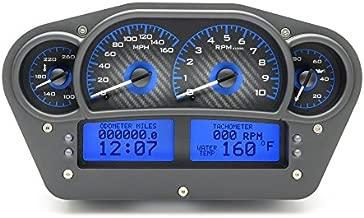 Dakota Digital Universal Competition Analog Gauges Carbon Fiber / Blue VHX-1100