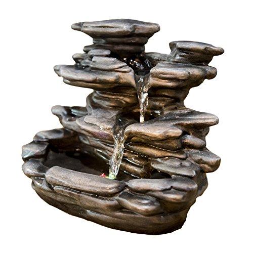 Zen'Light Guilin Fontaine d'intérieur, Résine, Gris, 25 x 19 x 29 cm