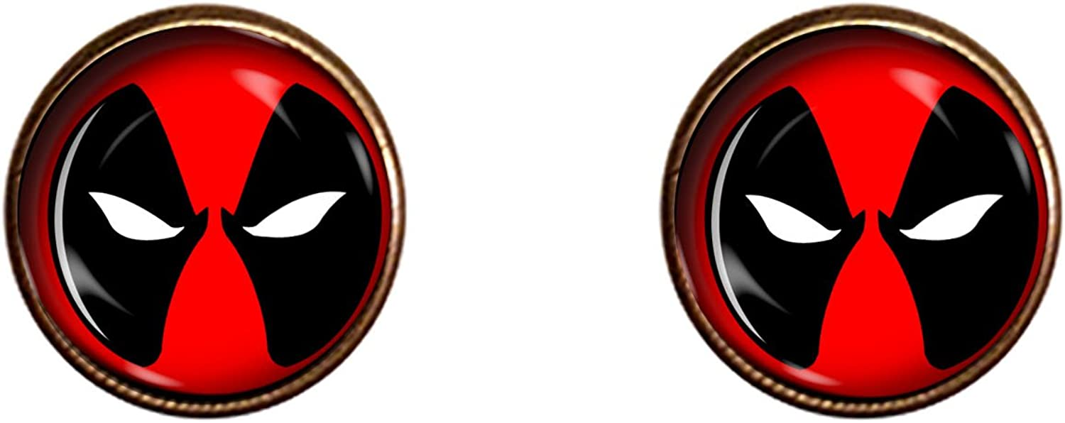 Deadpool cufflinks Gift Merc With A Mouth Jewelry Pendant Charm Gifts