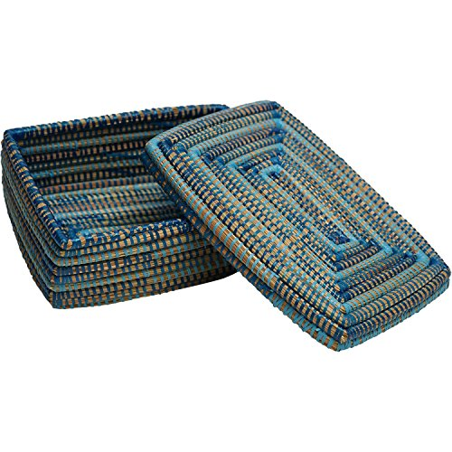 EA Déco Naturel & Design PLCTBLE Boite Késsé, Plastique, Tricolore Bleu, 23 x 10 x 15 cm