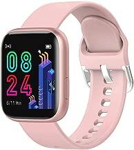 MmNote Watches DR88 Smart Watch IP67 2.5D Touch Screen Sport Bluetooth Fitness Sleep Monitor Pink