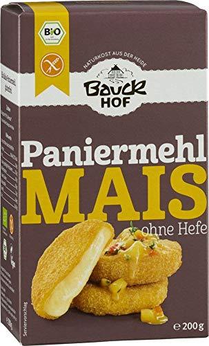 Bauckhof Mais Paniermehl ohne Hefe glutenfrei Bio (6 x 200 gr)