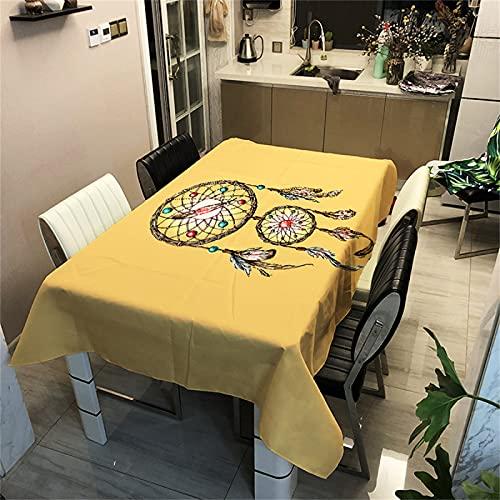 Mantel Rectangular Impermeable De Poliéster 3D Patrón Digital Decoración De La Sala De Estar Mantel De Cocina Hotel Cuadrado Mantel De Mesa De Café Fiesta De Vacaciones Jardín 100x140cm