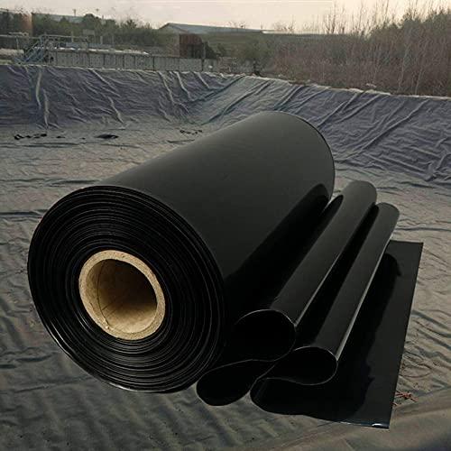 H-BEI Tarp Black - Lona Duradera Impermeable para Cubrir Muebles de jardín, Camping, Cubierta de Techo Fuente de Membrana Impermeable para jardín (0,2 mm / 0,3 mm de Grosor)