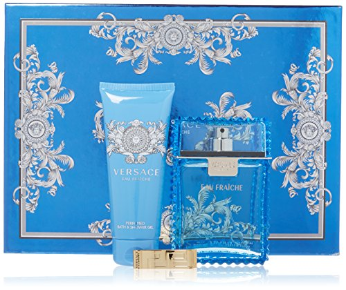 Versace Man Eau Fraiche Men's 3 Piece Gift Set