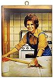 KUSTOM ART Cuadro de estilo vintage con los famosos «Sofia Loren» de «Formula» de «Pizza» - Impresión sobre madera para decoración de restaurantes y pizzerías, bares, hoteles
