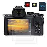 PCTC Tempered Glass Screen Protectors Compatible for Nikon Z50 Z 50 Digital Camera (3 Packs),2*...