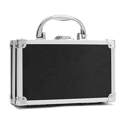 Caja de herramientas portátil 180 x 112 x 57 mm/7.1 'x4.4 'x2.3 'Caja de herramientas portátil de aleación de aluminio pequeña caja de almacenamiento para herramientas y piezas pequeñas