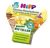 HiPP Gemüse-Fleischpfanne mit Kartoffelwürfeln und Erbsen, 6er Pack (6 x 250 g)