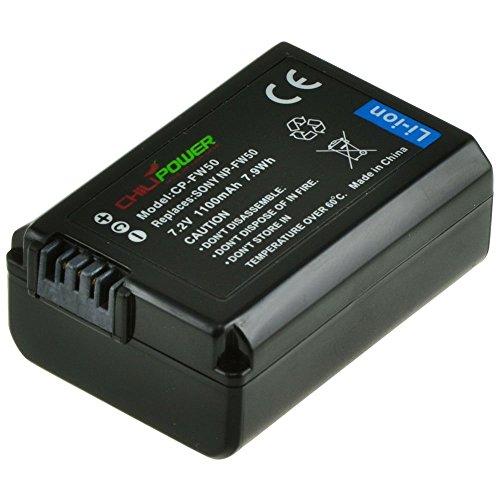 Chili Power NP-FW50Batería para SONY Alpha 7, a7, Alpha 7R, A7R, Alpha A3000, A5000, A6000, NEX-3, NEX-5, NEX-5R/nex-5t, NEX-6, NEX-7, NEX-C3, NEX-F3, SLT-A33, SLT-A35, SLT-A37, SLT-A55V, Cybershot DSC-RX10