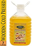 Thanjai Natural Virgin Unrefined Wooden Cold Pressed Peanut Groundnut Oil for Cooking Heart