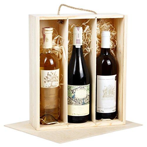 Caja de Regalo Madera botellas de vino vino caja regalo caja 3botellas