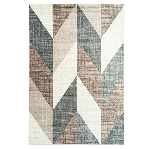 CC Teppich Modern Designer Wohnzimmer Impression Vintage Pastelfarben Braun, Größe in cm:80 x 150 cm, Farbe:Beige