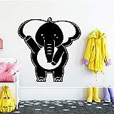 Elefant Wandaufkleber Wohnkultur PVC-Zubehör Weiß L 43cm X 44cm