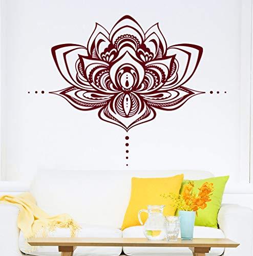 hetingyue Lotus Muur Bohemian Mandala kamer decoratie van het huis, vinyl stickers, decoratie van het huis