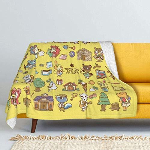 Juego de animales de cruce suave de cordero de doble capa de forro polar, ligera, hipoalergénica, cama de felpa, sofá de sala de estar