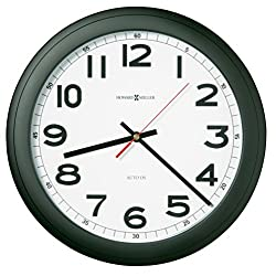 Howard Miller Norcross Wall Clock 625-320 – Modern with Quartz, Auto Daylight Savings Time
