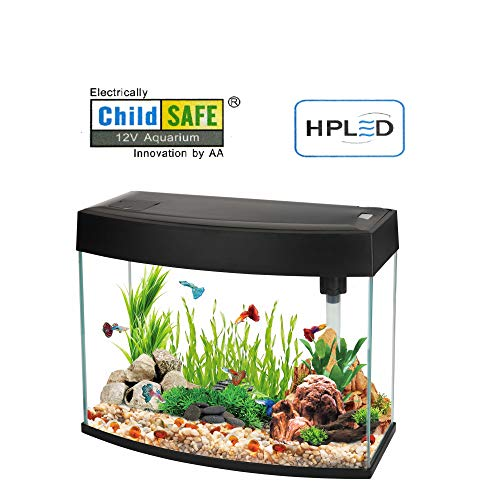 Nano-Komplett-Aquarium 20L,kratzfestes Glas,Filter/Pumpe u.LED-Beleuchtung