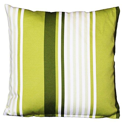 Lazis - Kissen, Kissenhülle, Zierkissen - Grenot Simple - Grüne Streifen - 40 x 40 cm