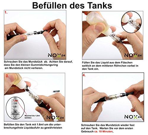 5er Pack - CE4 Atomizer für E-Zigaretten - Original Nox24 - Neueste Technik - Super Dampf - Lange Haltbarkeit - ohne Nikotin - Klar