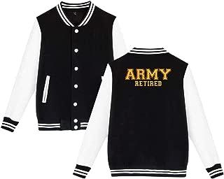 SHIEZZ Army Retired Men's Women's Baseball Uniform Jacket Sports Hoodie