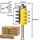 8 Millimetri Shank Ferroviario Reversibile Giunti Dita Colla Router Bit Cono incastri frese per Carpenter Strumenti di falegnameria