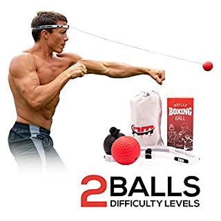 NMFIT Boxing Reflex Ball, Boxing Ball with Adjustable Headband for Kids and Adults - Boxing Equipment for Speed Training, Boxing Stand and Fitness, Punching Ball To Improve Fight Reaction and Agility (B07CVQLZMC) | Amazon price tracker / tracking, Amazon price history charts, Amazon price watches, Amazon price drop alerts