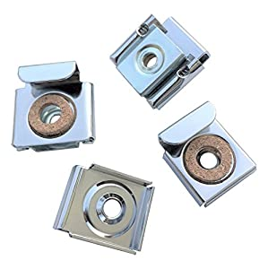 Frameless Unframed Bathroom Mirror Glass Wall Hanging Fixing Kit Hardware - Metal Chrome Effect Spring Loaded Clips with Screws and Rawl Plugs by Reflex