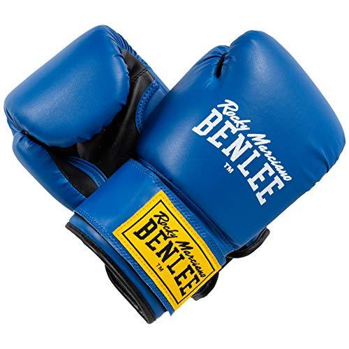 BENLEE Rocky Marciano Boxhandschuhe Training Gloves Rodney, Schwarz/Blau, 14