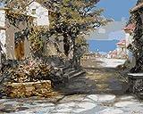 CJSZSD Kit de Pintura por Números Callejón de la Ciudad de Huqian Lienzo Digital para Manualidades DIY Lienzo Digital al óleo Regalo para Niños Estudiantes Adultos Principiantes 40x50cm(Sin Marco)